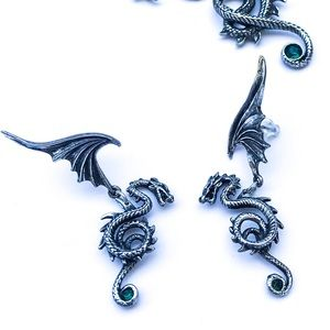 Royal Dragon Articulated Winged Beast Earrings